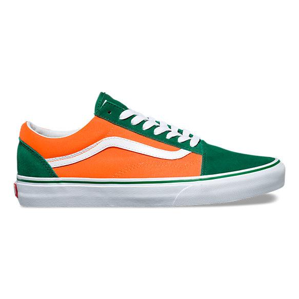 Vans Shoes Old Skool Verdant GreenNeon Orange