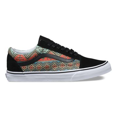 Womens Shoes - Vans Old Skool Moroccan Geo  Black