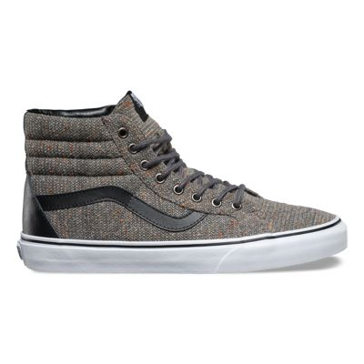 Women's Athletic Shoes/vans leather sk8 hi black reissue wool excalibur uj8t82e6