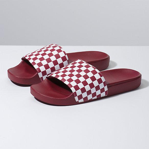 Mens Checkerboard Slide-On