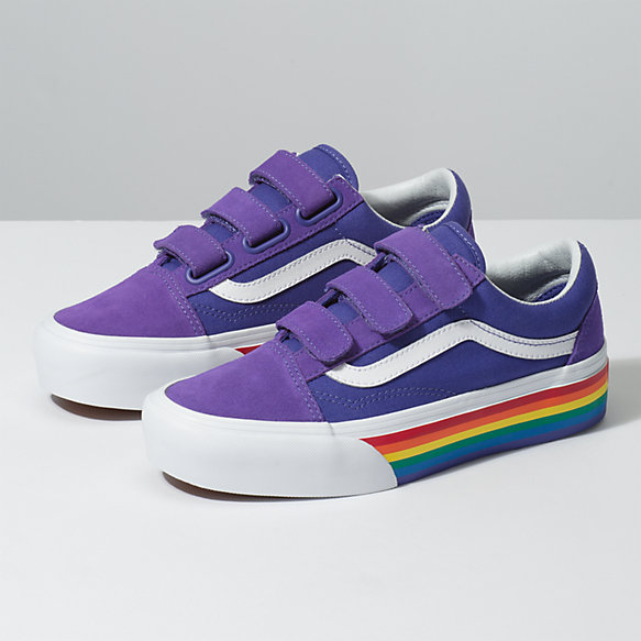 5f97657ac7e335 Rainbow Old Skool V Platform