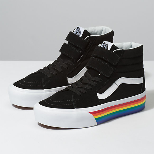 Rainbow Sk8-Hi V Platform. Share Your Style  f714415c9
