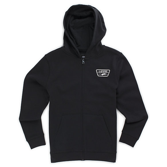 Boys Full Patched Zip Hoodie