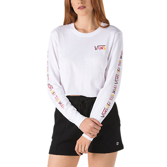 School U Long Sleeve Crop Tee