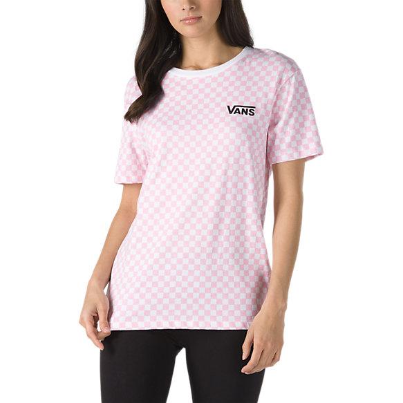 Pink Checks Short Sleeve Boyfriend Tee | Shop Womens Tees At Vans
