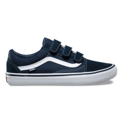 Vans Old Skool V Pro Shoes Navy, White