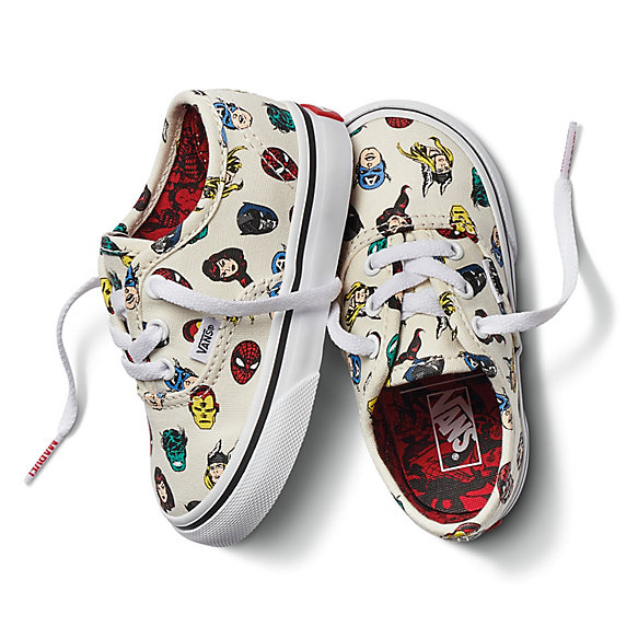 c1222eb830f Vans X Marvel Toddler Authentic