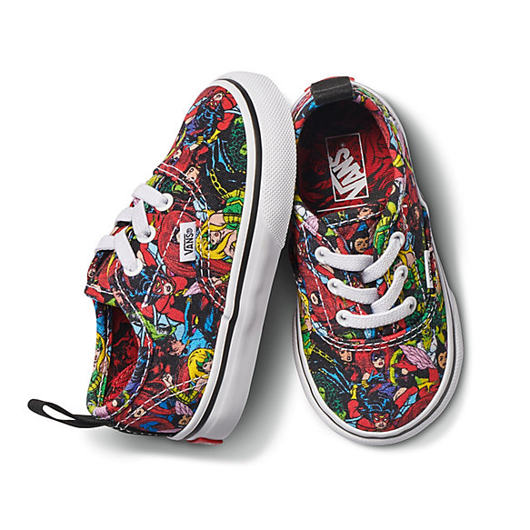 ceaf60db5df Vans X Marvel Toddler Authentic Elastic Lace