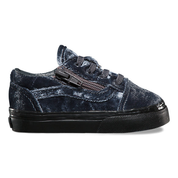 Toddlers Velvet Old Skool Zip