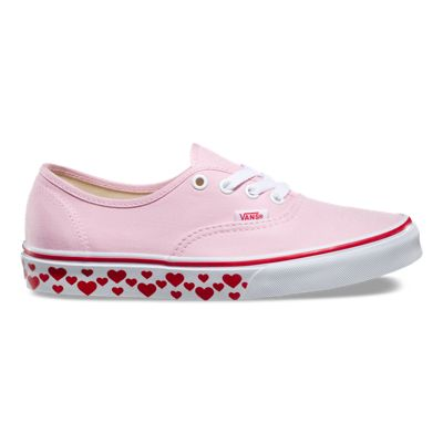 Buy Pink Lady Red Heart Vans Authentic Kids Shoes