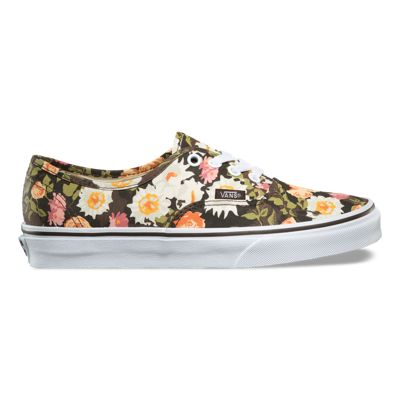 VANS Authentic (Abstract Floral) Demitasse Skate Shoes WOMEN'S Size 8