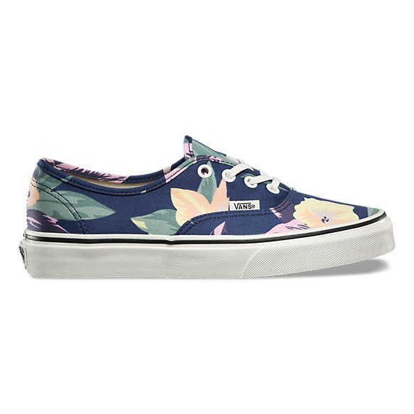 vans floral authentic