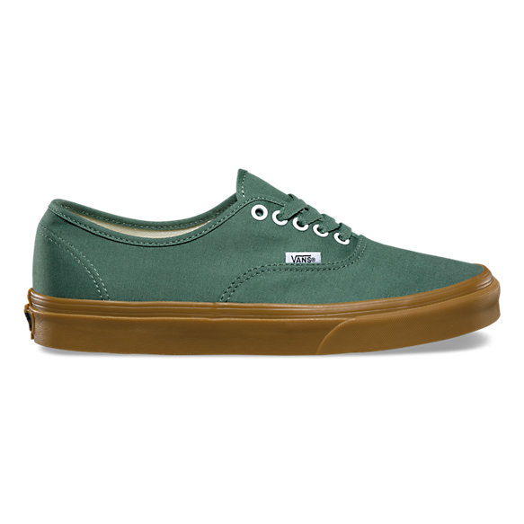 vans authentic green