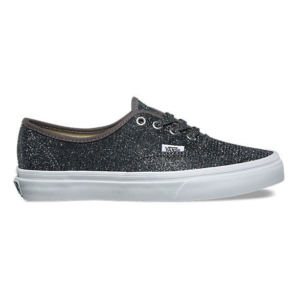 vans womens authentic glitter silver nz