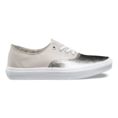 Vans / Authentic Decon Metallic Canvas Sneakers / Silver