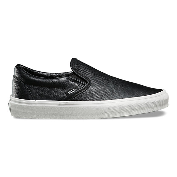 vans shoes slip on black