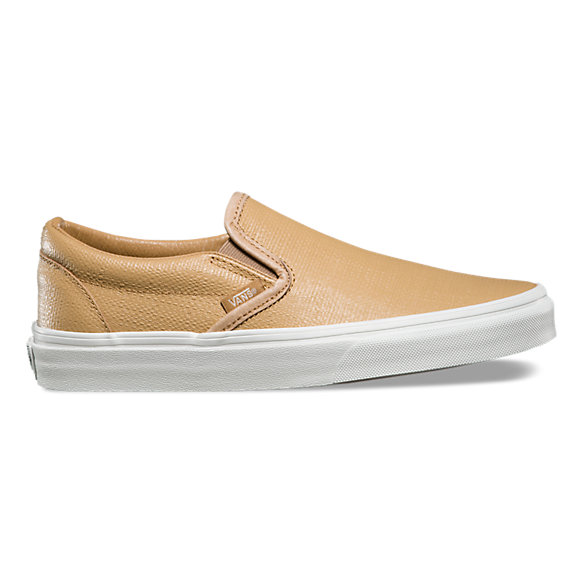 Embossed Leather Slip-On