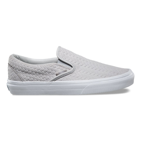 Embossed Woven Suede Slip-On