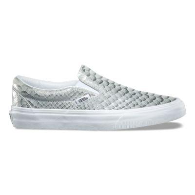 vans old skool zip side metallic snake sneaker
