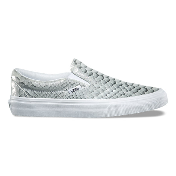 Metallic Snake Slip-On