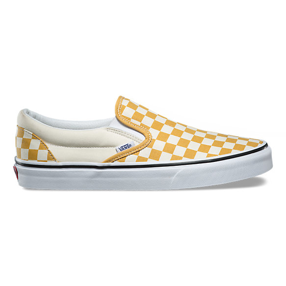 vans yellow checkerboard. us open slip-on vans yellow checkerboard a