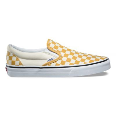 Classic Slip-On- Yellow/White slip-ons