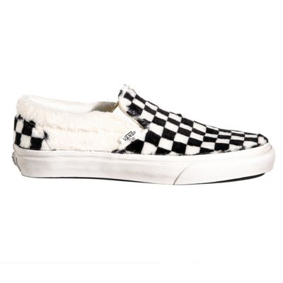 excellent quality clearance sale terrific value Sherpa Checkerboard Slip-On