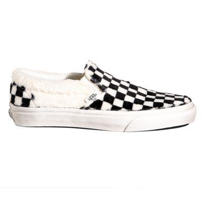 64d358ea890 Sherpa Checkerboard Slip-On