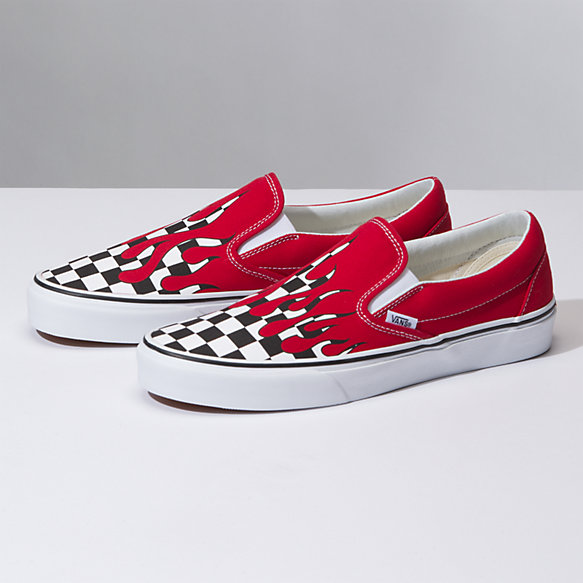 Checker Flame Slip-On