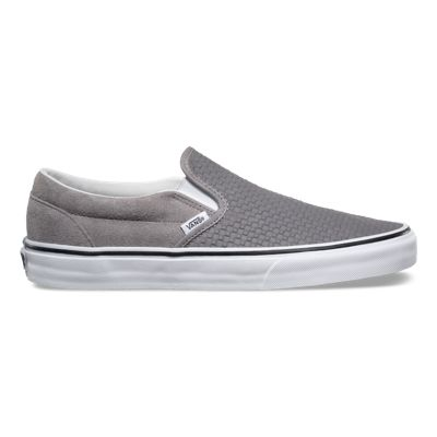 vans slip on grey suede