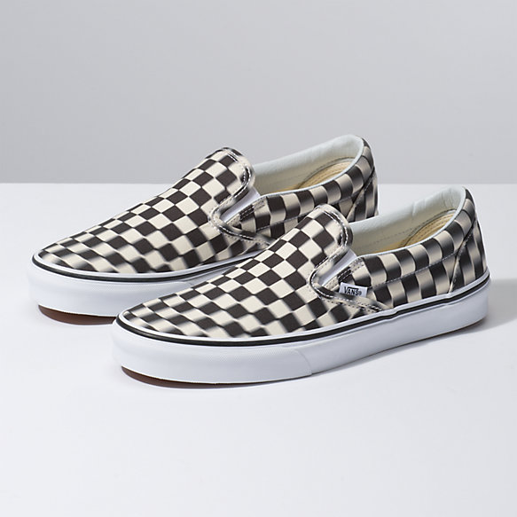 Blur Check Slip On Vans Ca Store