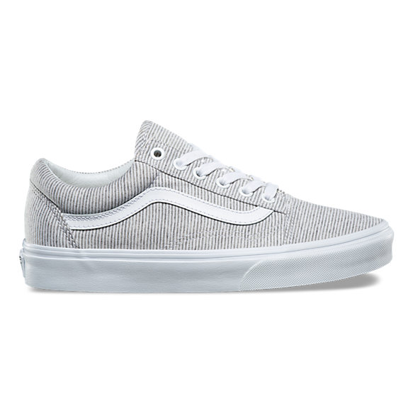 womens light grey vans old skool trainers | schuh