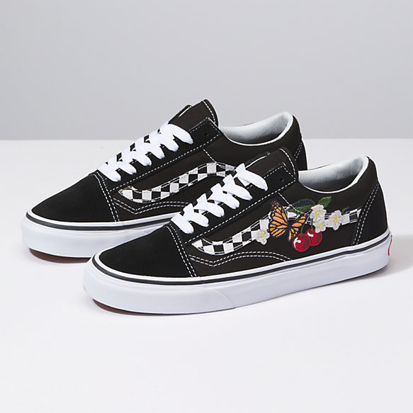 Checker Floral Old Skool