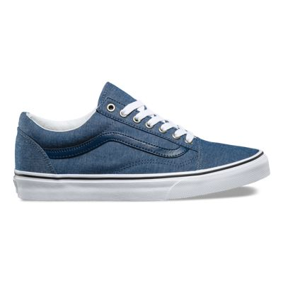 VANS Old Skool low-top chambray trainers Chambray black - G1204