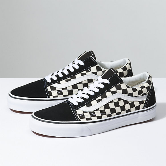 vans black and white shoes