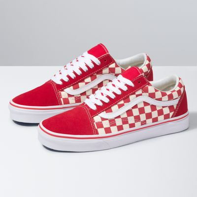 red checkered vans on feet