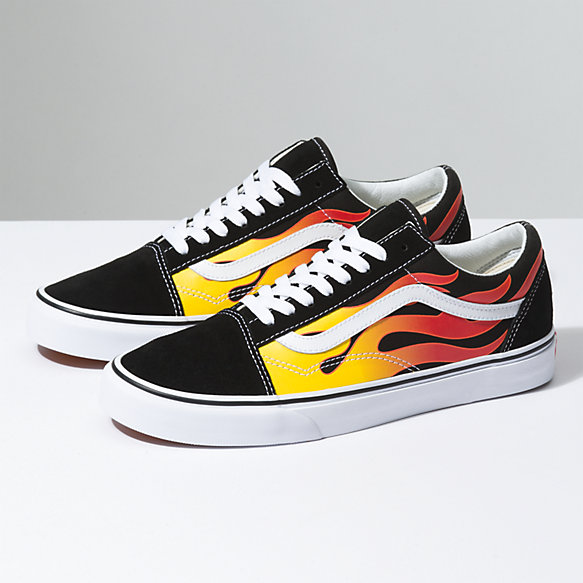 full black vans x thrasher old skool fire flame off 50% - www ... ab121ed34
