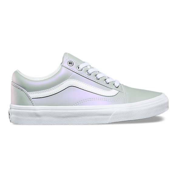 Vans Women's Muted Metallic Slip On Skateboarding Shoes (7