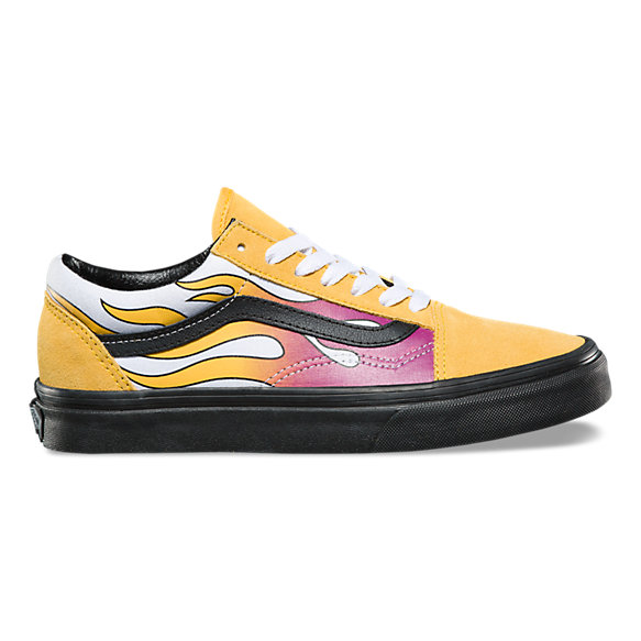 vans old skool flammes