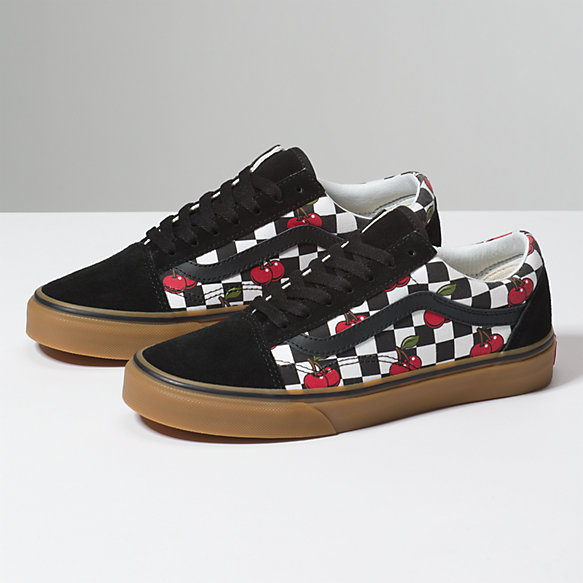 Cherry Checker Old Skool Shop At Vans