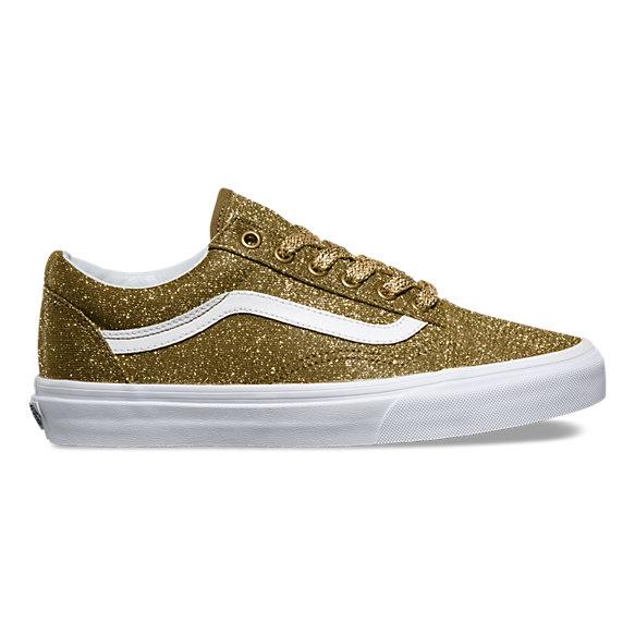 vans beige gold