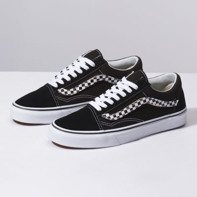 Vans Old Skool Sidestripe V Red, Black & White Skate Shoes