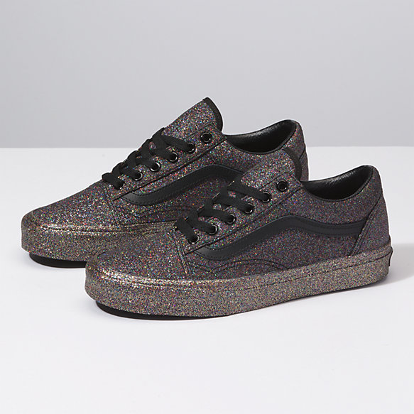 vans damen old skool glitzer