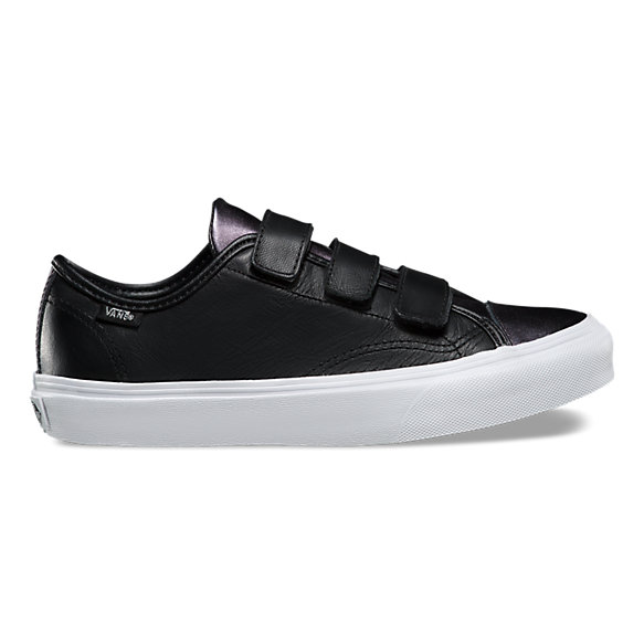 vans slip on leder black