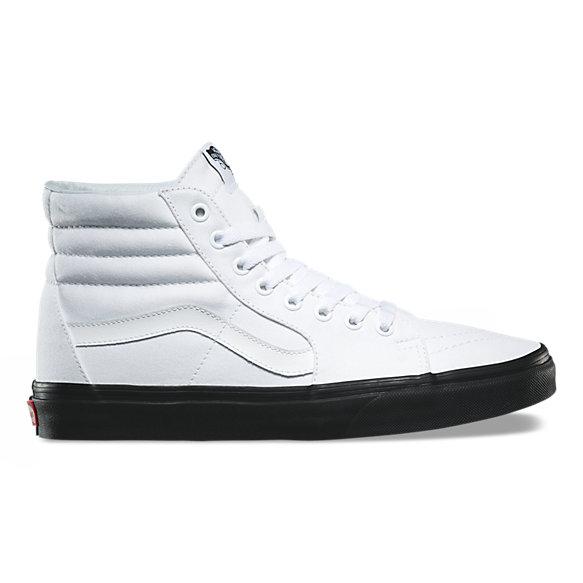 vans skate hi black and white