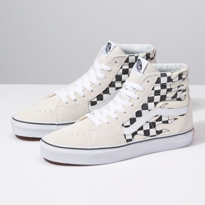 Checker Flame Sk8 Hi by Vans