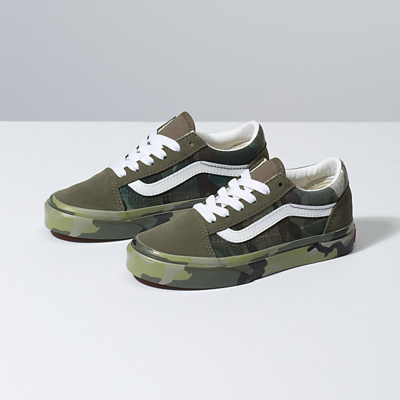 Kids Old Skool Plaid Camo | Vans CA Store