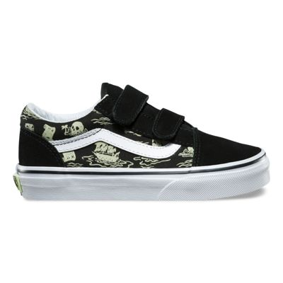 Vans Kids Glow Pirate Old Skool V (black/true white)