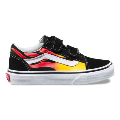 Vans Kids Flame Old Skool V (Black/Black/True White)