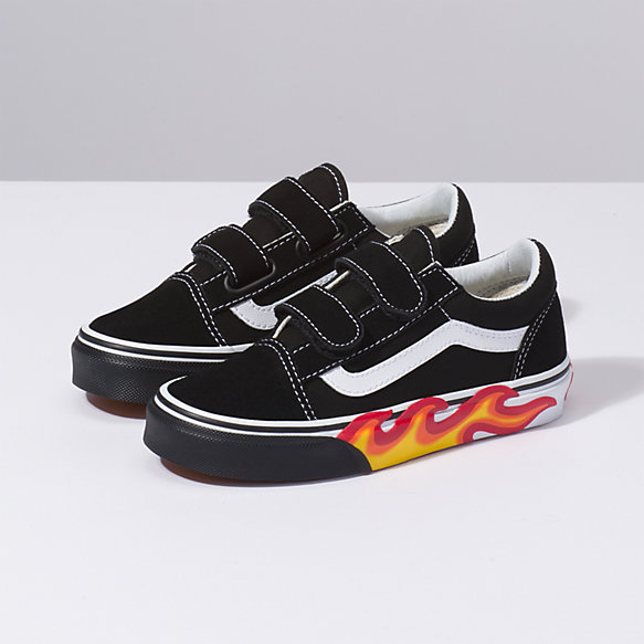 Kids Flame Cut Out Old Skool V